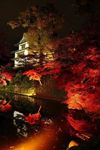 Осень, Замок Хиросаки, префектура Аомори